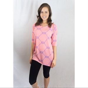 Lula Roe Pink Ropes Shirt
